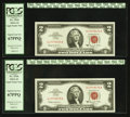 Fr. 1514 $2 1963A Legal Tender Notes. Two Consecutive Examples. PCGS Superb Gem New 67PPQ