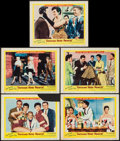 """Movie Posters:Musical, Gentlemen Marry Brunettes (United Artists, 1955). Lobby Cards (9) (11"""" X 14""""). Musical.. ... (Total: 9 Items)"""