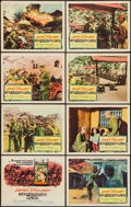 """Movie Posters:War, The Mountain Road (Columbia, 1960). Lobby Card Set of 8 (11"""" X14""""). War.. ... (Total: 8 Items)"""