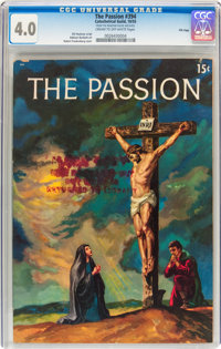 The Passion #394 File Copy (Catechetical Guild, 1955) CGC VG 4.0 Cream to off-white pages