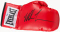Boxing Cards:General, Mike Tyson Signed Boxing Glove....