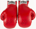 Boxing Collectibles:Autographs, Evander Holyfield Signed Boxing Gloves....