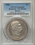 Coins of Hawaii , 1883 $1 Hawaii Dollar -- Repaired -- PCGS Genuine. AU Details. NGCCensus: (30/189). PCGS Population (66/206). Mintage: 46,...