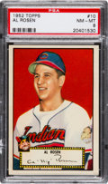 Baseball Cards:Singles (1950-1959), 1952 Topps Al Rosen (Red Back) #10 PSA NM-MT 8 - Only OneHigher....