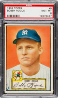 Baseball Cards:Singles (1950-1959), 1952 Topps Bobby Hogue (Red Back) #9 PSA NM-MT 8....