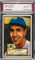 Baseball Cards:Singles (1950-1959), 1952 Topps Phil Rizzuto (Red Back) #11 PSA NM-MT 8....