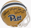 Football Collectibles:Others, Johnny Majors and Tony Dorsett Pitt Panthers Lot of 2....