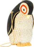 "Luxury Accessories:Bags, Judith Leiber Full Bead Black & Silver Crystal PenguinMinaudiere Evening Bag. Very Good to Excellent Condition.3"" Wi..."