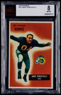 Football Cards:Singles (1950-1959), 1955 Bowman Andy Robustelli #121 BVG NM-MT 8....