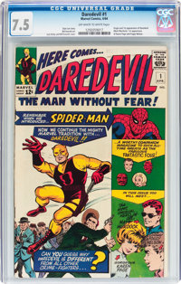 Daredevil #1 (Marvel, 1964) CGC VF- 7.5 Off-white to white pages