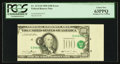 Error Notes:Major Errors, Fr. 2173-D $100 1990 Federal Reserve Note. PCGS Choice New 63PPQ.....