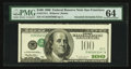 Error Notes:Inverted Third Printings, Fr. 2175-L $100 1996 Federal Reserve Note. PMG Choice Uncirculated64.. ...