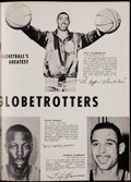 Basketball Collectibles:Programs, 1958-59 Harlem Globetrotters (Featuring Wilt Chamberlain) Program -High Grade. ...