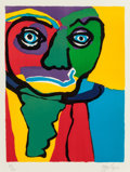 Prints, Karel Appel (Dutch, 1921-2006). Personages, 1970. Lithograph in colors on paper. 26 x 19-3/4 inches (66 x 50.2 cm). Ed. ...