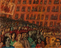 Fine Art - Painting, American:Contemporary   (1950 to present)  , Frank Kleinholz (American, 1901-2001). Parade. Oil onmasonite. 24 x 30 inches (61.0 x 76.2 cm). Signed lower center:...