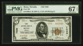 National Bank Notes:Nevada, Reno, NV - $5 1929 Ty. 2 First NB Ch. # 7038. ...