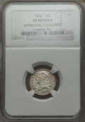 Bust Dimes: , 1836 10C -- Improperly Cleaned -- NGC Details. XF. NGC Census:(7/188). PCGS Population (27/226). Mintage: 1,190,000. Numis...