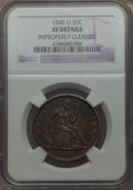 Seated Half Dollars: , 1840-O 50C -- Improperly Cleaned -- NGC Details. XF. NGC Census: (14/90). PCGS Population (23/91). Mintage: 855,100. Numism...