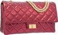 Luxury Accessories:Bags, Chanel Metallic Red Quilted Leather Reissue Jumbo Double Flap Bagwith Gold Hardware. Very Good to Excellent Condition. ...