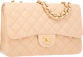 Luxury Accessories:Bags, Chanel Beige Quilted Lambskin Leather Jumbo Single Flap Bag withMatte Gold Hardware. Excellent to Pristine Condition. ...