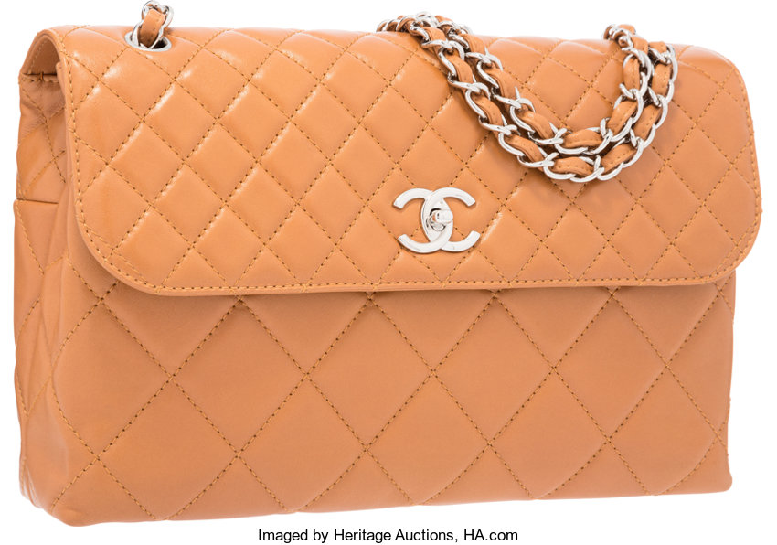 fb53885c9c2413 Excellent; Luxury Accessories:Bags, Chanel Brown Quilted Lambskin Leather  Flap Bag with SilverHardware.