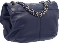 84ebf8af20c1 ... Luxury Accessories:Bags, Chanel Blue Quilted Lambskin Leather Half Moon  Flap Bag with SilverHardware ...