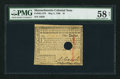 Colonial Notes:Massachusetts, Massachusetts May 5, 1780 $1 PMG Choice About Unc 58 Net, HOC.. ...