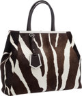 "Luxury Accessories:Bags, Fendi Zebra Ponyhair & Brown Leather 2 Jours Tote Bag withSilver Hardware. Excellent Condition. 15"" Width x 12.5"" Height..."