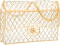 "Luxury Accessories:Bags, Chanel Gold Cage Beaded Medium Flap Bag with Gold Hardware. Goodto Very Good Condition. 10"" Width x 6.5"" Height x 2.5..."