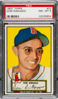 Baseball Cards:Singles (1950-1959), 1952 Topps Dom DiMaggio (Red Back) #22 PSA NM-MT 8....