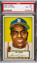 Baseball Cards:Singles (1950-1959), 1952 Topps Sam Jethroe (Red Back) #27 PSA NM-MT 8....