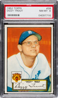 Baseball Cards:Singles (1950-1959), 1952 Topps Dizzy Trout (Red Back) #39 PSA NM-MT 8 - Only OneHigher....