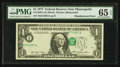 Error Notes:Shifted Third Printing, Fr. 1909-I $1 1977 Federal Reserve Note. PMG Gem Uncirculated 65 EPQ.. ...