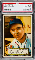 Baseball Cards:Singles (1950-1959), 1952 Topps Wes Westrum (Red Back) #75 PSA NM-MT 8 - Only OneHigher....