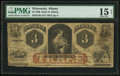 Obsoletes By State:Wisconsin, Albany, WI- Bank of Albany $3 Sept. 1, 1860 G4b Krause G4b. ...