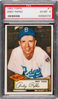 Baseball Cards:Singles (1950-1959), 1952 Topps Andy Pafko (Red Back) #1 PSA EX-MT 6....