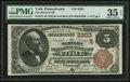 National Bank Notes:Pennsylvania, York, PA - $5 1882 Brown Back Fr. 474 The Western NB Ch. # (E)2303. ...