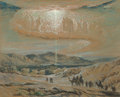 Fine Art - Work on Paper:Drawing, Elihu Vedder (American, 1836-1923). Star of Bethlehem, circa1863. Pastel on grey paper. 6-1/2 x 8 inches (16.5 x 20.3 c...