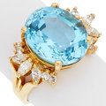 Estate Jewelry:Rings, Topaz, Diamond, Gold Ring. ...