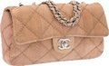 "Luxury Accessories:Bags, Chanel Beige Quilted Python Medium Single Flap Bag with SilverHardware. Excellent Condition. 10"" Width x 6"" Height x..."