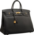 "Luxury Accessories:Bags, Hermes 40cm Black Togo Leather Birkin Bag with Gold Hardware.Excellent Condition. 15.5"" Width x 11"" Height x 8""Depth..."