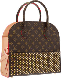 Louis Vuitton Celebrating Monogram Collection Classic Monogram Canvas, Red Calf Hair & Vachetta Leather Shopping Bag...