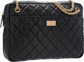 """Luxury Accessories:Bags, Chanel Black Quilted Distressed Leather Reissue Camera Bag withGold Hardware. Very Good Condition. 11"""" Width x 9""""Hei..."""