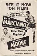 """Movie Posters:Sports, Rocky Marciano vs. Archie Moore (United Artists, 1955). Poster (40"""" X 60"""").. ..."""