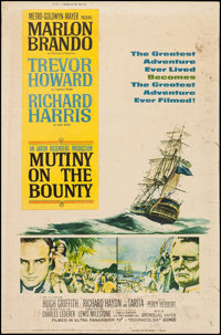 """Mutiny on the Bounty (MGM, 1962). Poster (40"""" X 60"""") Style Y. Adventure"""