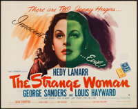 "The Strange Woman (United Artists, 1946). Half Sheet (22"" X 28"") Style B. Film Noir"