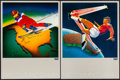 """Movie Posters:Sports, Olympic Games (Levi's Pants, 1980). Posters (4) (18"""" X 24"""") North America, Australia, South America, & Africa Style. Sports.... (Total: 4 Items)"""