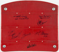 Football Collectibles:Others, Pittsburgh Steelers Greats Signed Three Rivers Stadium Seat....