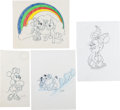 Animation Art:Production Drawing, Willie Ito Minnie Mouse Consumer Product Merchandise Sketch Animation Group of 4 (Disney, undated).... (Total: 4 Original Art)