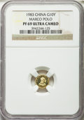 """China:People's Republic of China, China: People's Republic gold """"Marco Polo"""" Proof 10 Yuan 1983 PR69 Ultra Cameo NGC,..."""